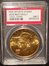 PSA 7 NM 7 - Don Mattingly 1992 Sport Stars Baseball Coins New York Yankees