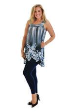 Vêtements tuniques, caftans bleus pour femme taille 46