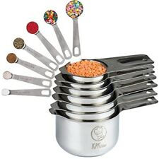 Best Stainless Steel Measuring Cups and Spoons Set 7 Cup and 7 Spoon Metal Sets