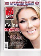 """CELINE DION  RARE 7 JOURS MAGAZINE NOVEMBER 2008 PHOTOS LAS VEGAS """"MINT"""""""
