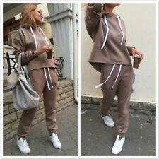 Ladies Hoodies Trousers Set Leisure Suits Autumn Pullover Two-piece Clothing YU