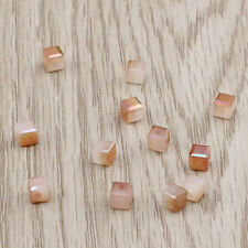 50pcs 4mmCube Square Faceted Crystal Glass Colorful Loose Jewelry Beads  BG075