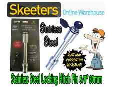 """Stainless Steel Locking Hitch Pin -Rust and Corrosion Resistant 5/8"""" 80mm"""