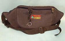 Vintage Fanny Pack Everest Black Festival Grunge Day Pack Waist Belt Bum Bag