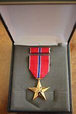 USMC US MARINE CORPS & FLEET MARINES UNISSUED CASED BRONZE STAR MEDAL SET #17G