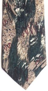 """Forte Men's Polyester Tie 55.5"""" X 4"""" Multi-Color Abstract"""