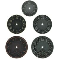 5 Tim Holtz Idea-ology Timepieces Antique Nickel, Brass & Copper Clock Faces