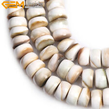 """6x12mm Rondelle Natural Shell For Jewelry Making Spacer Beads Strand 15"""""""