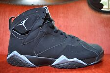 cheaper 83fe2 54cc0 WORN ONCE Nike Air Jordan VII 7 Retro BLACK CHAMBRAY BLUE GREY 304775-042  11.5