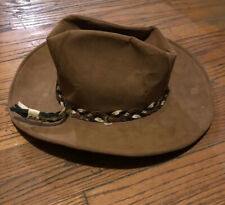 Vintage Suede Brown Leather Hippie Wizard Gandalf Of The West Type Hat! Large