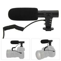 Shoot MIC-05 Camera DV Stereo Microphone for Camcorder Interview News Recording
