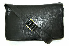 AUTHENTIC COACH BLACK HIGH QUALITY GENUINE COW LEATHER MESSENGER SHOULDER BAG