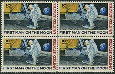 FIRST MAN ON THE MOON ~ NEIL ARMSTRONG ~ MOON LANDING ~ AIRMAIL #C076 4 STAMPS