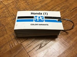 PPG HONDA (1) Paint Chips Color Variance Program Cars