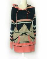 No Boundaries XL Lightweight Sweater Hooded Pullover Multicolor W8