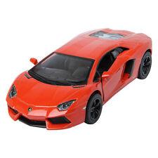 "New 5"" Kinsmart Lamborghini Aventador LP700-4 Diecast Model Toy Car 1:38 Orange"