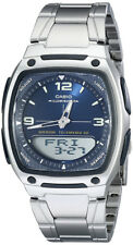 Casio Men's Ana-Digi Databank 10-Year Battery Stainless Steel Watch AW81D-2AV