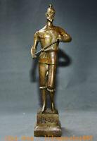 """14,4 """"Vieux Chine Bronze Lu Ban le maître charpentier chinois Figure Art Statue"""
