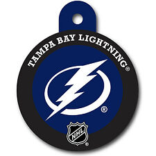 Tampa Bay Lightning NHL Custom Engraved ID tag pet Name Tag MADE IN USA Round