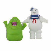 2 PC Ghostbusters Slimer Marshmallow Man Stay Puft Ghost Mini Figures Toy Model