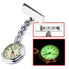 Vintage Reloj de Bolsillo Analógico con Broche Esfera Redonda para Enfermera