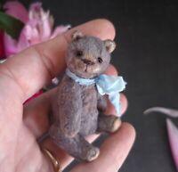 Miniature teddy bear. Ooak teddy bear. Old classic teddy bear. Vintage looking