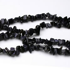"Blue Sandstone Chip Gemstone  Beads Approx 32"" Strand"