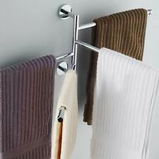 Bathroom Towel Rack Hanging Storage Holder Shower Organizer Swivel Rail Shelf