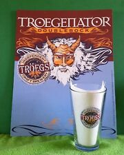 "RARE ~ 2006 Troegs Brewing ""TROEGENATOR"" Poster & Pint Glass Collector - ManCave"