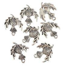 Scottish Thistle Plant Beads Tibetan Silver Charms Pendant DIY 18*23mm 10pcs