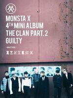 MONSTA X 4th Mini Album THE CLAN 2.5 PART.2 GUILTY GUILTY Ver CD+Photobook+Card