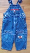 Harley Davidson Blue Denim Toddler Overalls Size 2T Zipper Pockets Harley Patch