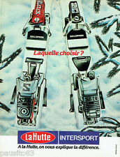 PUBLICITE ADVERTISING 036  1980  La Hutte Intersport skis salomon star