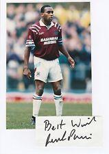 George PARRIS West Ham Utd 1984-1993 mano originale firmato TAGLIO + FOTO