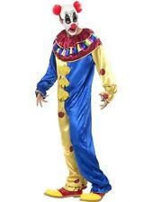 Smiffys Adult Goosebumps Clown Fancy Dress Costume Jumpsuit Latex Wig Cap & Nose