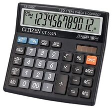 Citizen CT 555 N Basic Calculator 12 Digits Display | Free Shipping