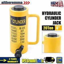 20 Ton Hydraulic Cylinder Jack6stroke Single Acting Lifting Ram 424cc Cylinder