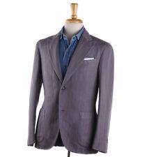 NWT $1625 BOGLIOLI Dusky Purple Linen-Cotton 'K Jacket' Suit 38 R (Eu 48)