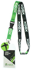 "Xbox Double Sided ID Lanyard Badge Holder With 1.5"" Round Rubber Charm Pendant"