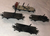 Marklin 4 Log Pipe Car Lot 3 Tandem Cars As Found Group Nice HO