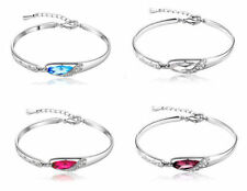 Cubic Zirconia White Gold Plated Fashion Bracelets