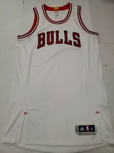 Team Issued Chicago Bulls White Adidas Climacool Jersey XL Length + 2