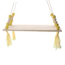 Macaron Wandbehang Bracket Rack Bücher Fotoalbum Display Float Regal Gelb