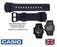 Genuine Casio Watch Strap Band W-735H W-736H AQ-S810W AEQ-110W AEQ-110BW - BLACK