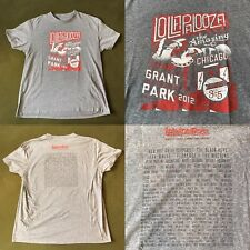 Lollapalooza Festival 2012 RHCP Black Keys The Weeknd NERD T-Shirt Men's L Rock
