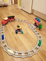 LEGO DUPLO My Town Steam Train Set with Action Bricks 10874 AND EXTRAS