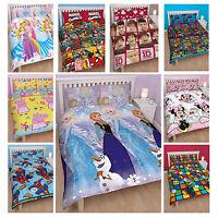 Disney  & Kids TV Character Double Quilt Duvet Cover Bedding Brand New Gift