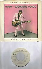 NEIL YOUNG  Wonderin' / Payola Blues 45 with PicSleeve from 1983