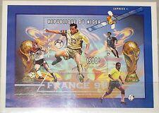 NIGER 1996 Block 94 S/S 932 Soccer World Cup 1998 France Fußball WM Football MNH