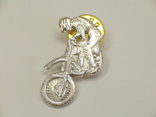 MOTOCROSS, SPILLA da giacca (PINS) in Argento 925 - moto - cross - enduro -